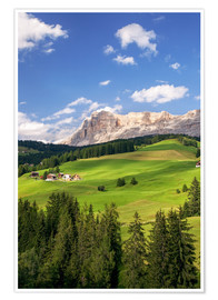 Póster Green valley in South Tyrol