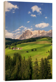 Cuadro de madera  Green valley in South Tyrol - Matteo Colombo