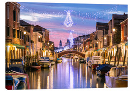 Lienzo  Canal in Venice at Christmas - Matteo Colombo