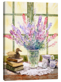 Lienzo  Lupins on Windowsill - Julia Rowntree