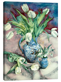 Lienzo  Tulips and Snowdrops - Julia Rowntree