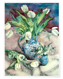 Póster  Tulips and Snowdrops - Julia Rowntree