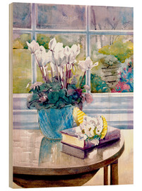 Madera  Flowers and Book on Table - Julia Rowntree