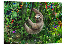Cuadro de PVC  Sloth in the jungle - Adrian Chesterman