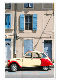 Póster  Citroen 2CV car, France - Matteo Colombo
