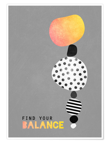 Póster Find your balance