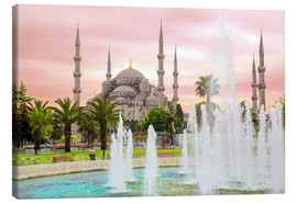 Lienzo  the blue mosque (magi cami) in Istanbul / Turkey (vintage picture) - gn fotografie