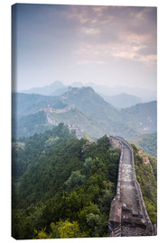 Lienzo  Great Wall of China in fog - Matteo Colombo