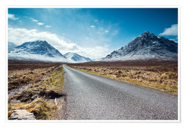 Póster Road to the Highlands, Scotland, UK