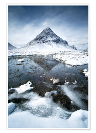 Póster Snow covered Buachaille Etive Beag, Glencoe, Scotland