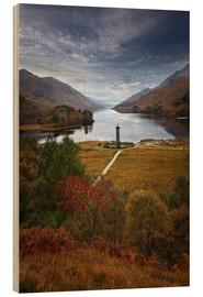 Cuadro de madera  Glenfinnan Monument - Scotland - Martina Cross