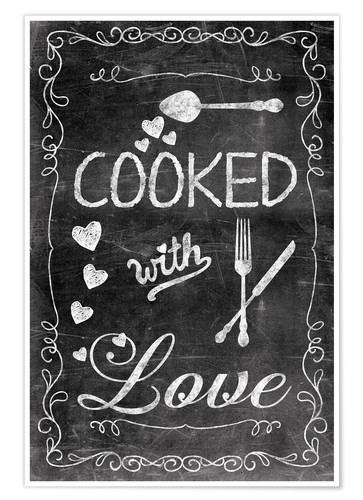 Póster Cooked with Love