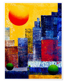 Póster New York Skyline Abstrakt