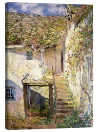 Lienzo  Las escaleras - Claude Monet