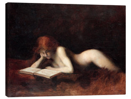 Lienzo  The Reader - Jean-Jacques Henner