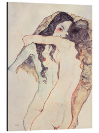 Aluminio-Dibond  Two women in embrace - Egon Schiele