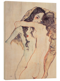 Madera  Two women in embrace - Egon Schiele