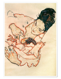 Póster  Nursing Mother (Stephanie Gruenwald) - Egon Schiele