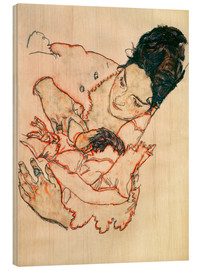 Cuadro de madera  Nursing Mother (Stephanie Gruenwald) - Egon Schiele