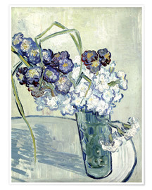 Póster Vase with Carnations