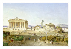 Póster  The Acropolis at Pericles' time - Ludwig Lange