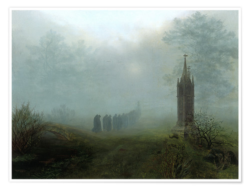 Póster Procession in the fog