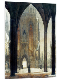 Cuadro de PVC  Cathedral in Winter - Ernst Ferdinand Oehme