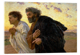 Cuadro de metacrilato  Morning of the resurrection, Peter and John on their way to the grave - Eugene Burnand
