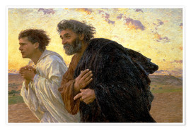 Póster Morning of the resurrection, Peter and John on their way to the grave
