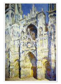 Póster  Rouen Cathedral, with tower Saint-Romain in sunlight - Claude Monet