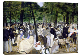 Lienzo  Music in the Tuileries - Edouard Manet