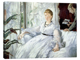 Lienzo  Madame Manet and her son Léon - Edouard Manet