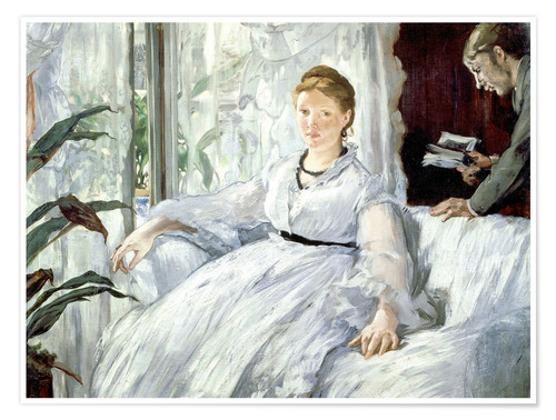 Póster Madame Manet and her son Léon