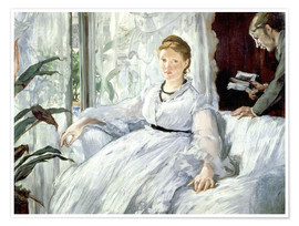 Póster  Madame Manet and her son Léon - Edouard Manet
