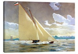 Lienzo  The sailing boat Henny III. - Willy Stöwer