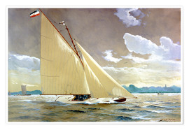 Póster  The sailing boat Henny III. - Willy Stöwer