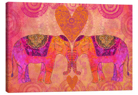 Lienzo  Elephants in Love - Andrea Haase