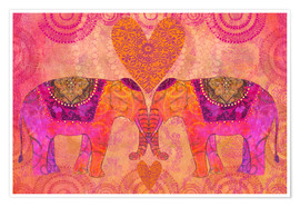 Póster Elephants in Love