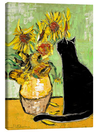 Lienzo  The cat of Van Gogh - JIEL