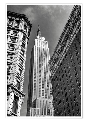 Póster Empire State Building - NYC (monochrome)