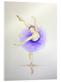 Cuadro de metacrilato  Ballet Dancer in Purple - Sam Reimann