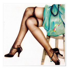 Póster  Black Stockings - Alberto Vargas