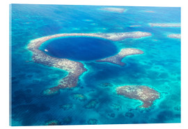 Cuadro de metacrilato  Great Blue Hole, Belize - Matteo Colombo