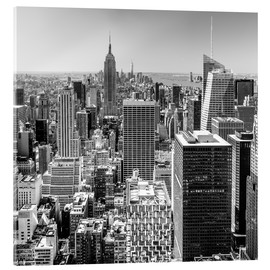 Cuadro de metacrilato  Top Of The Rock - New York City (monochrome) - Sascha Kilmer