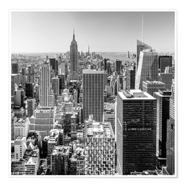 Póster  Top Of The Rock - New York City (monochrome) - Sascha Kilmer
