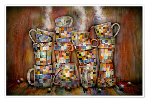 Póster Coffee Time with Artwork