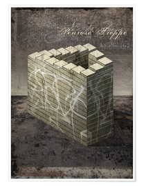 Póster  Penrose stairs vintage - Dieter Ziegenfeuter