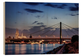 Cuadro de madera  Daybreak in Cologne - Tanja Arnold Photography