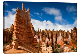 Lienzo  Queen's garden trail at Bryce Canyon - Circumnavigation