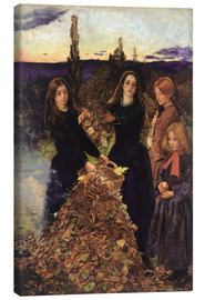 Lienzo  Autumn Leaves  - Sir John Everett Millais